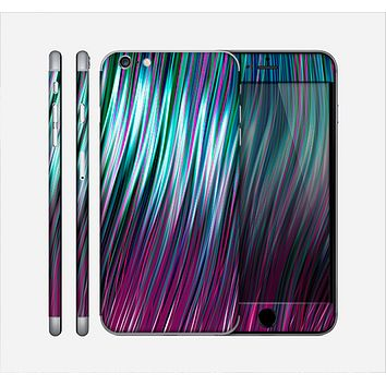 The Pink & Blue Vector Swirly HD Strands Skin for the Apple iPhone 6 Plus