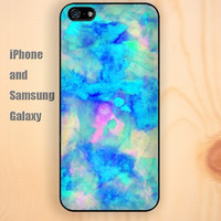watercolor blue colorful iphone 6 6 plus iPhone 5 5S 5C case Samsung S3,S4,S5 case Ipod Silicone plastic Phone cover Waterproof