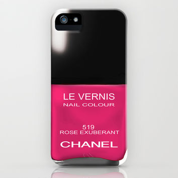 Chanel Nail Polish Rose Exuberant iPhone & iPod Case by BeckiBoos