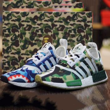 ADIDAS x Bape NMD Fashion Flats Sport Shoes Running Sneakers  G-CSXY