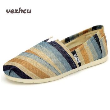 VZEHCU Summer Fashion Men Canvas Shoes espadrilles Men Casual Shoes Slip on Breathable Men Flats Shoe Zapatos Hombre cd28