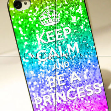 Keep calm and be a princess - for iPhone 4/4S case iPhone 5 case hard case hard cover