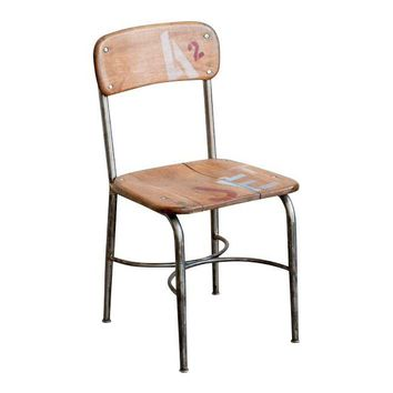Pre-owned Mid-Century School Table Chairs - Set of 3