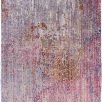 Watercolor Area Rug Purple, Pink