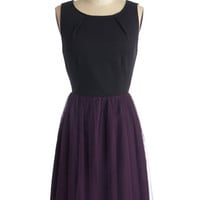 Jack by BB Dakota Mid-length Sleeveless Ballerina Dedicated Dreamer Dress in Plum