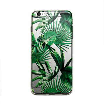 Tropical Rainforest Clear iPhone Case
