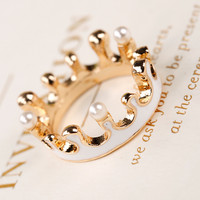 Stylish Shiny Gift Jewelry New Arrival Korean Crown Ring [6057020865]
