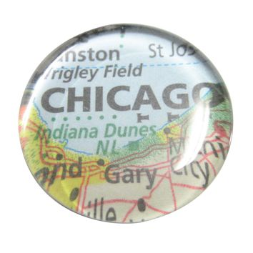 Chicago Illinois Map Pendant Magnet