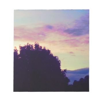 Purple Lavender Skies Notepad
