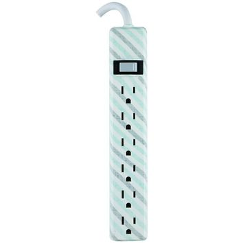 GE(R) 31040 6-Outlet Patterned Power Strip, 4ft Cord