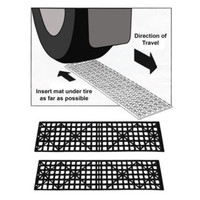 Hampton Direct Set Of 2 Auto Tire Snow/Ice/Mud/Sand Grabber Traction Mats