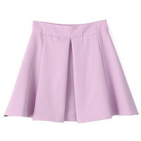 Lilac Pleated Empire Skirt
