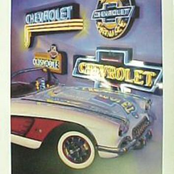 "Chevrolet Poster -- ""Neon Classic"""