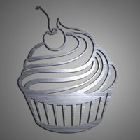 Cupcake Metal Wall Art - Kitchen Wall Decor