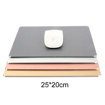 25x20cm Aluminium Alloy PU 2 Side Use Gaming Hard Metal Material Personalized Durable Mouse Pad Mat Comfort Mice Pads
