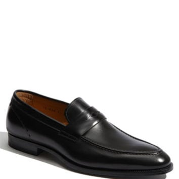 Men's Santoni 'Patrick' Penny Loafer, Size 8 D - Black