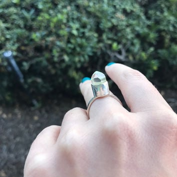 Crystal Point Ring - Ready to Ship - Size 7.75
