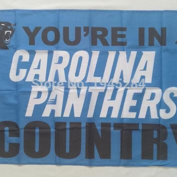 NFL Carolina Panthers Country Flag Banner New 3x5ft 90x150cm Polyester 9853, free shipping