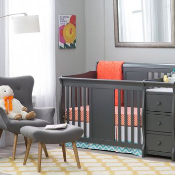 Storkcraft Calabria Crib N Changer - Cribs at Hayneedle