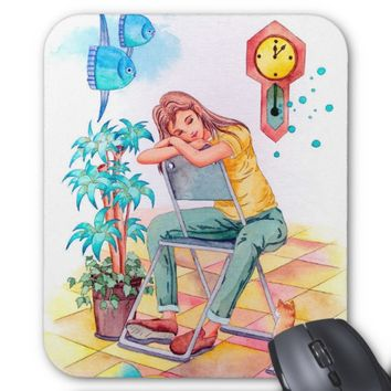 Rest time mouse pad