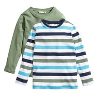 H&M - 2-pack Long-sleeved T-shirts