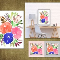 Hand painted flowers1f