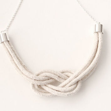 Rope Necklace  Be A Square Knot by junghwa on Etsy