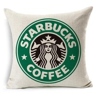 Starbucks Coffee Throw Pillow Cover