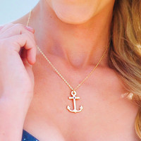 Be My Anchor Necklace: Gold | Hope's