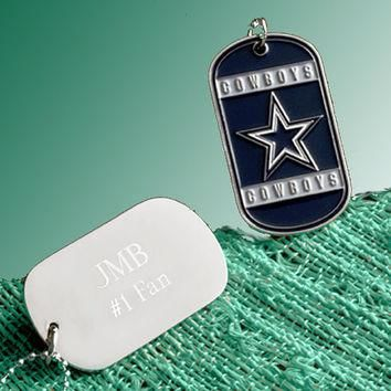 NFL Charms, Personalized Dog Tag Necklace, NFL Football Teams, Military Dogtags, New Y