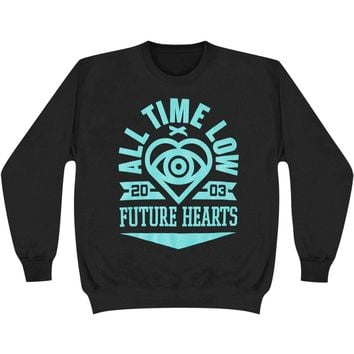 All Time Low Women's  Bold Heart Girls Jr Sweatshirt Black