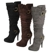 Glaze by Adi Womens Faux Suede Slouchy Tall Boots | Meijer.com