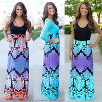 2015 Women Sexy Sundress Boho Long Maxi Dress = 1946982276