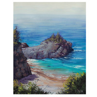 Big Sur Oil PAINTING CALIFORNIA SEASCAPE Beach by GerckenGallery