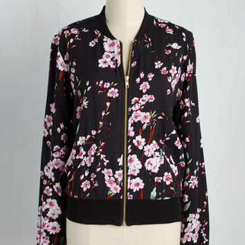 Greatest Blossom Divisor Jacket in Black | Mod Retro Vintage Jackets | ModCloth.com