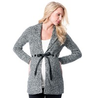 Oh Baby by Motherhood Marled Cardigan - Maternity, Size: