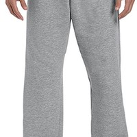 gildan open bottom sweatpants s grey - medium Case of 12