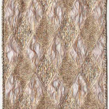 Metallic Diamond Tapestry Rose Gold
