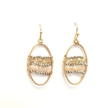 Affections Beaded Earrings In Natural