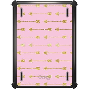 DistinctInk™ OtterBox Defender Series Case for Apple iPad - Pink & Gold Print - Arrows Pattern