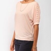 Oversized Crochet Appliqué Top | FOREVER21 - 2000046064