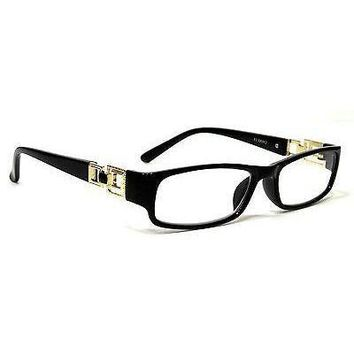 NWT Women Retro Reading Glasses Boss Lady Fashion Rectangle Frame