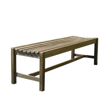 V1613 5-foot Backless Outdoor Hand-scraped Garden Bench