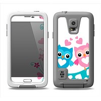 The Pink & Blue Vector Love Birds Samsung Galaxy S5 LifeProof Fre Case Skin Set