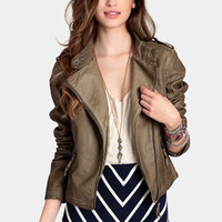 Heart Moto Jacket by Black Sheep - $90.00 : ThreadSence, Women's Indie & Bohemian Clothing, Dresses, & Accessories