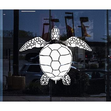 Window and Wall Vinyl Decal Ocean Sea Turtle Home Kids Nautical Decor Unique Gift (z4543w)