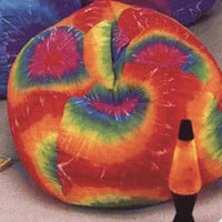 "Tie Die Bean Bag Chair (Multicolored) (112"" circum 36"" diam)"