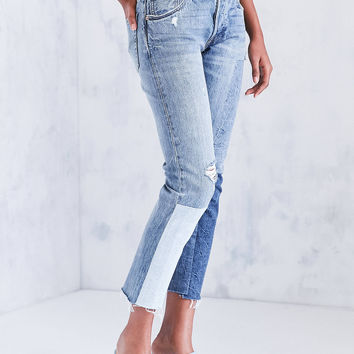 Levi's 501 Colorblock Patch Skinny Jean - Ragged Lands | Urban Outfitters