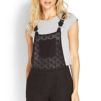 Lace Overall Shorts