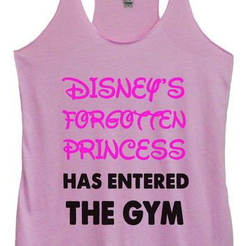 Womens Fashion Triblend Tank Top - Disney's Forgotten Princess Has Entered The Gym - Tri-528